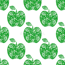 seamless vector pattern bright fruits symmetrical background with