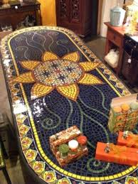Diy Mosaic Table Dining Table Mosaic Table Tops Tables Top Outdoor Dining Tile