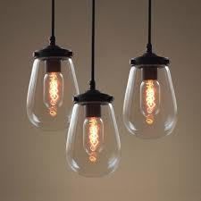 3 bulb light fixture globe clear glass pendant light pack of 3 westmenlights electric