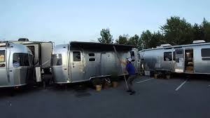 Awnings By Zip Dee Airstream Zip Dee Power Vs Manual Awning Race Youtube