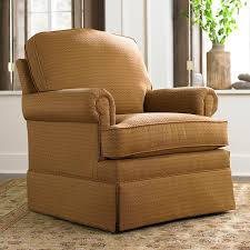 Accent Chairs With Arms by Traditional Upholstered Skirted Accent Chair