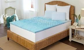 cooling memory foam mattress pad groupon goods