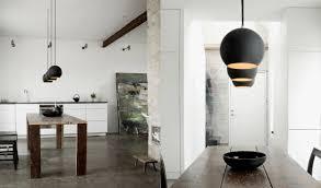 modern kitchen island lights lighting pendant light island bench copper spacing kitchen