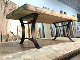 Flat Bar Table Legs Coffee Table Wrought Iron Legs Glass Coffee Table With Wrought