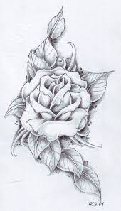 collection of 25 3 grey roses tattoos design