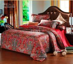 100 egyptian cotton king queen size bedding set red bed in a bag