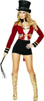 costume for women ringleader master performer romper clowns circus