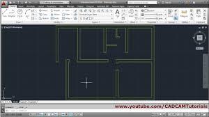 Auto Cad Floor Plan by Autocad Floor Plan Tutorial For Beginners 1 Youtube