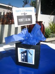 dr who party theme simple centerpieces black gift bag blue