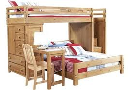 Bunk Beds With Built In Desk Bunk Bed With Built In Desk Brown Wooden Loft Bunk Bed And Study
