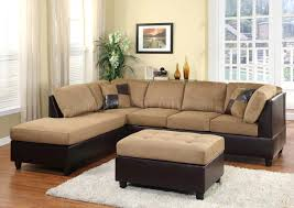 us pride sierra microfiber sectional sofa with ottoman left gray