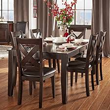 amazon com tribecca home 7 piece dining room set is crafted from