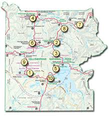 map with attractions top ten attractions yellowstone national park