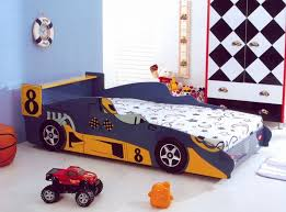 Awesome Kids Bedrooms Awesome Kids Bedroom With Red Car Bed And Black Wall Accent Color