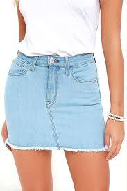 light wash denim skirt and lock light wash denim mini skirt