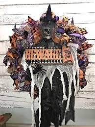 halloween wreath scary halloween wreath creepy skeleton