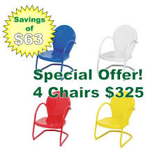 Retro Metal Patio Chairs Retro Metal Lawn Chairs Retro Metal Gliders Retro Metal Tables