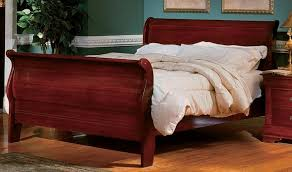 cherry sleigh bed cherry wood sleigh bed bonners furniture