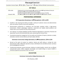 resume stunning medical cv template format receptionist sample