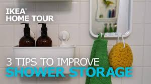 Bathroom Shower Storage Shower Storage Ideas Ikea Home Tour