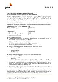 Shipping Manager Resume Independent Assurance Statement Cathay Pacific Sustainable