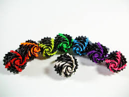 fireworks duct tape rose ring black and neon duck tape flower
