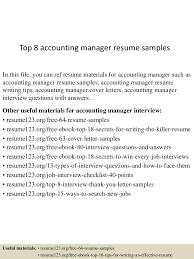 Accounting Coordinator Resume Example Top8accountingmanagerresumesamples 150424015944 Conversion Gate02 Thumbnail 4 Jpg Cb U003d1429858838
