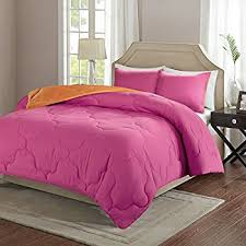 Pink Down Comforter Twin Amazon Com Vcny Rose Fur 2 Piece Comforter Set Twin Pink Home