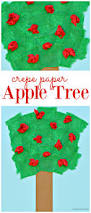 crepe paper apple tree craft about a mom