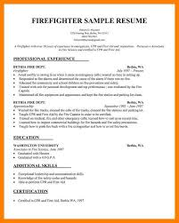 Paramedic Resume Sample Firefighter Paramedic Resume Templates Objective Sample Template