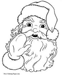 simple christmas drawings santa clause coloring pages kids