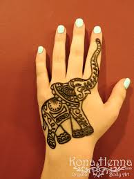 design tattoo hand kona henna studio elephant hand henna by kona henna