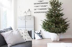 decor simple tree decorating ideas on white basket