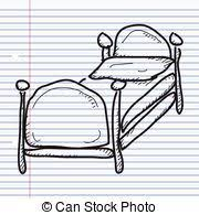 Drawing Of A Bed Vector Illustration Of A Simple Coloured Drawing Of A Brown