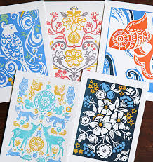 folk series artisan letterpress cards set of 10 new