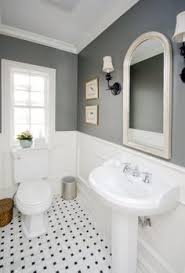 Gray And White Bathroom - blue and white bathroom bathroom victorian with black white