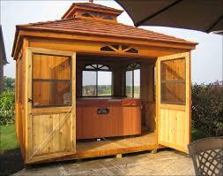 customer u0027s photo 12 u0027 x 12 u0027 cedar double roof cabana