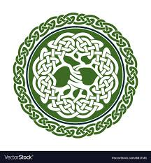 celtic tree of royalty free vector image vectorstock