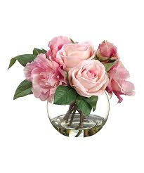Square Vase Flower Arrangements Pink U0026 Mauve Rose U0026 Peony Vase Arrangement Vase Arrangements
