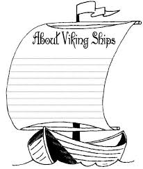 viking ship clipart coloring page pencil and in color viking