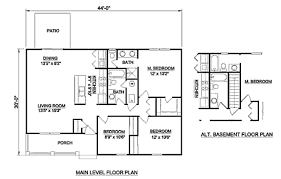 Level Floor Ranch Style House Plan 3 Beds 2 00 Baths 1200 Sq Ft Plan 116 242