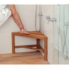 wood teak corner shower bench u2014 teak furnitures best reference