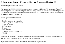 examples of a customer service resume craigslist job posting how to get better candidates craigslist post example 2