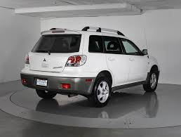 white mitsubishi outlander used 2003 mitsubishi outlander xls suv for sale in west palm fl