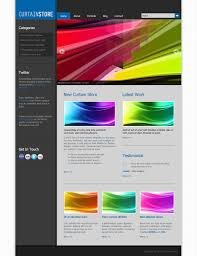 curtain store free html css templates