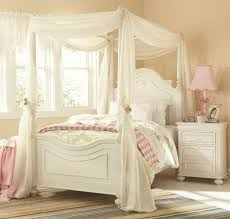 Antique White Bedroom Furniture Decorating Ideas Girls Room With Purple Canopy Bed And Furniture Amys Office