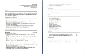 Personal Skills For Resume Examples by Personal Trainer Resume Free Layout U0026 Format
