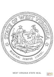 west virginia state seal coloring page free printable coloring pages