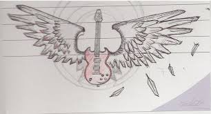 sg guitar with wings drawing by l1vethedream on deviantart