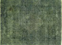 Green Persian Rug 9 U0027x12 U0027 Blue Green Oriental Overdyed Persian Hand Knotted Wool Area